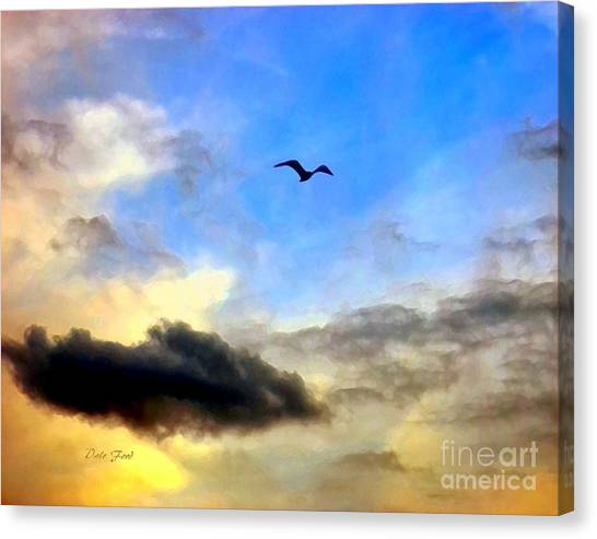 Alone In A Big Sky Canvas Print