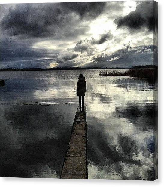 Hollywood Canvas Print - Alone She Walked & Pondered The World by Mark Hollywood
