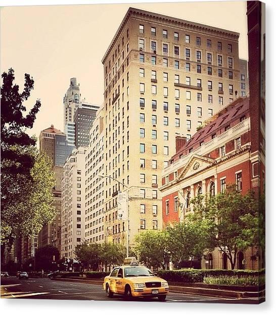 Car Canvas Print - Along Park Avenue - New York City by Vivienne Gucwa