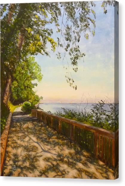 Along The Bay Canvas Print