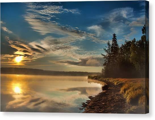 Along The Edge Canvas Print by Gary Smith