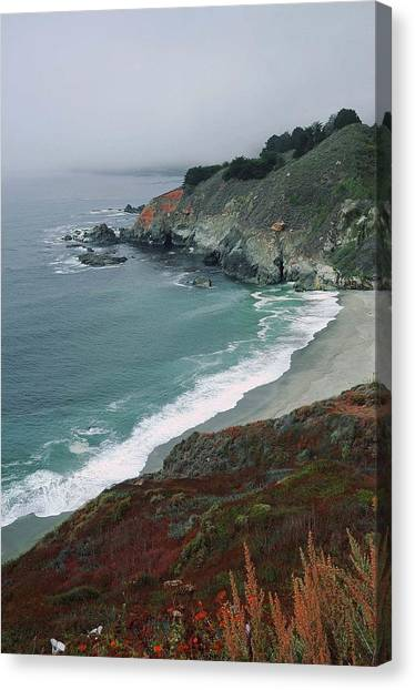 Along The Pacific Coast Canvas Print