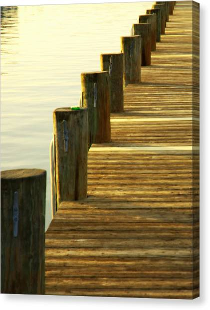 Along The Pier Canvas Print