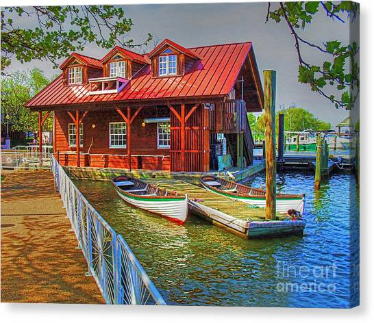 Along The Potamac Canvas Print