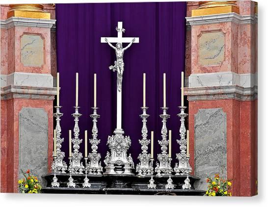 Candlestick Canvas Print - Altar Dresdener Hofkirche by Christine Till