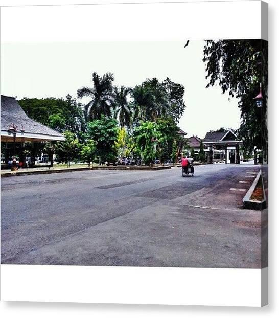 Shakira Canvas Print - #alunalun #purwakarta #indonesia #becak by Inas Shakira