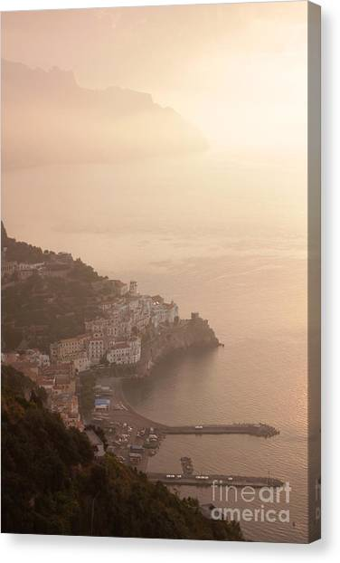 Amalfi At Sunrise Canvas Print by Chris Hill
