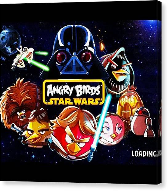 Star Wars Canvas Print - #amazing #cool #game #star #wars #angry by Patii Martinez