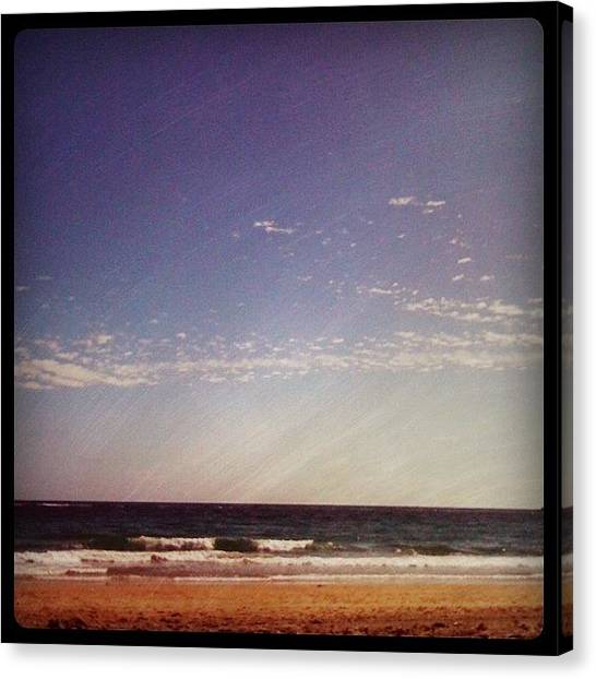 White Sand Canvas Print - Amazing Day.  #beach #ocean by Emily W