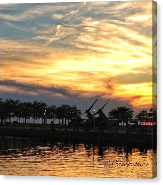 Marines Canvas Print - #amazing #sunset In #cleveland #ohio by Pete Michaud