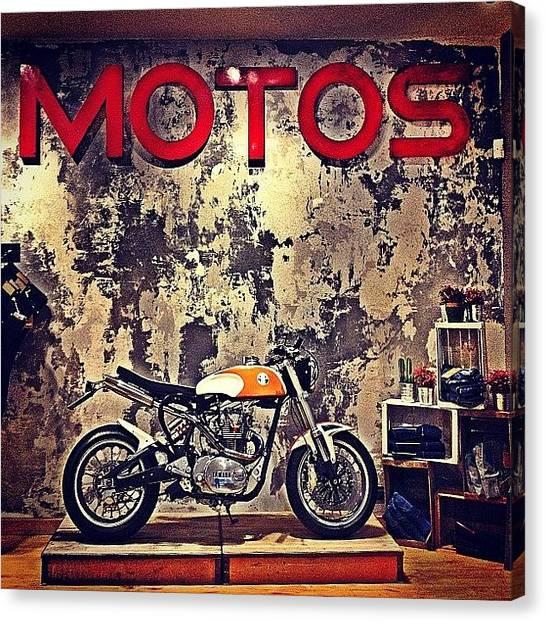Yamaha Canvas Print - Amazing. #yamaha #motor #motorbike by Emily Hames