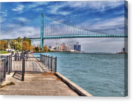 Ambassador Bridge Detroit Mi Canvas Print