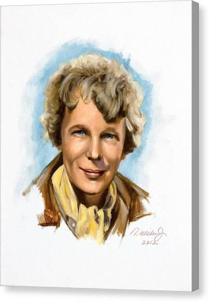 Amelia Earhart Canvas Print