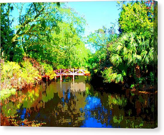 Amelia Island Bridge Canvas Print by Michael Dantuono