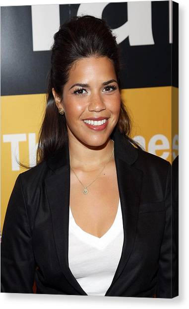 At A Public Appearance Canvas Print - America Ferrera At A Public Appearance by Everett
