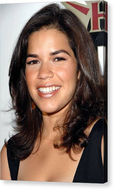 Salvation Army Canvas Print - America Ferrera At Arrivals For Hot In by Everett