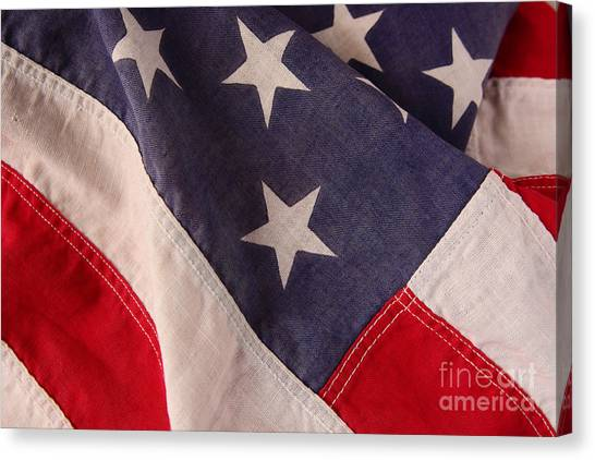 America Flag Canvas Print by Ruby Hummersmith