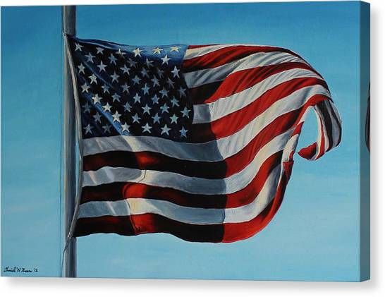 America The Beautiful Canvas Print by Daniel W Green