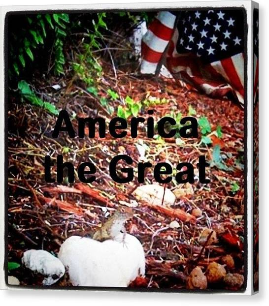 Lizards Canvas Print - #america #the #great #flag #outside by Emily W