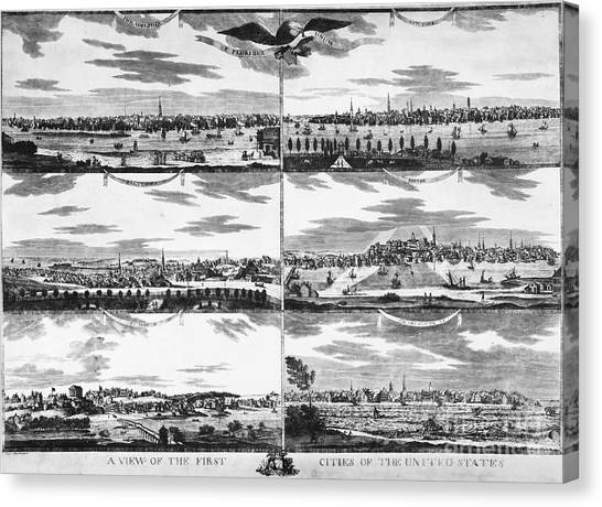 South Baltimore Canvas Print - American Cities, C1810 by Granger