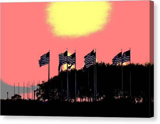 American Flags1 Canvas Print