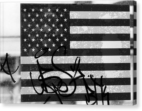 Jasper Johns Canvas Print - American Graffiti  911 by Kenneth rst Vick