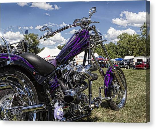 Choppers Canvas Print - American Ironhorse by Peter Chilelli