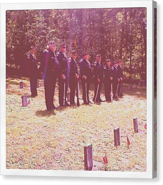 Soldiers Canvas Print - American Legion Honor Guard by Micah Mulinix