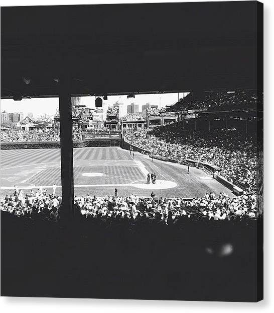 Wrigley Field Canvas Print - America's Pastime by William Meier
