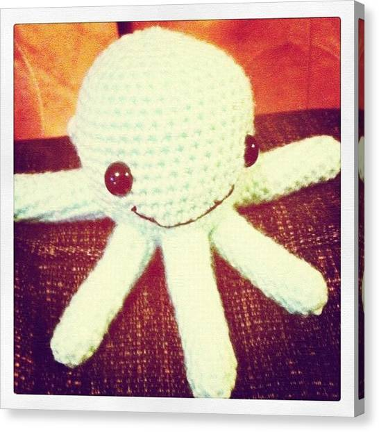Octopus Canvas Print - #amigurumi #crochet #octopus #handmade by Emma  Maudsley