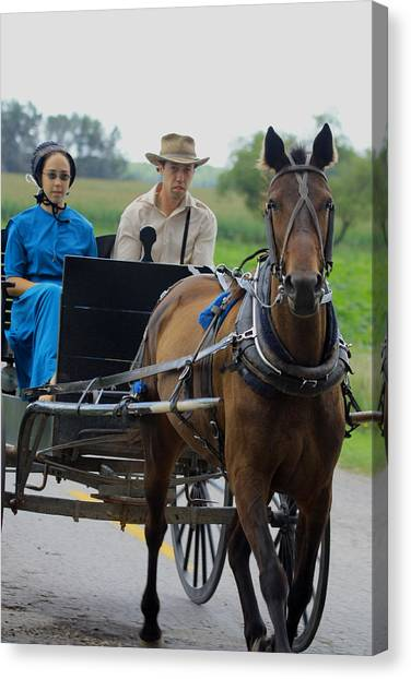 Amish Buggy Ride Canvas Print