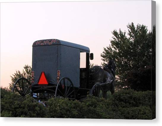 Amish Parking Canvas Print