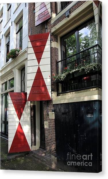 Amsterdam House Facade Canvas Print by Sophie Vigneault