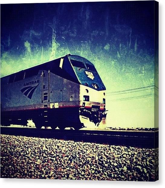Locomotive Canvas Print - Amtrak Blur ~ Corron Xtrillion #cx by Glen Campbell