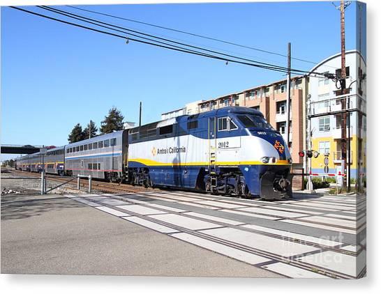 Amtrak Canvas Print - Amtrak Train 7d7310 by Wingsdomain Art and Photography