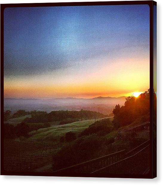 Wine Canvas Print - An Amazing #sonomacounty #sunset At by Shana Ray