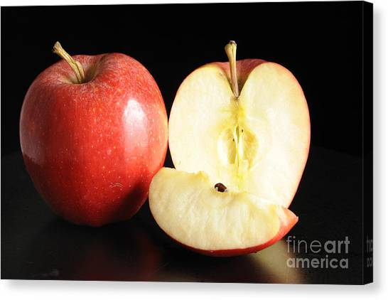 An Apple A Day... Canvas Print by Nancy Greenland