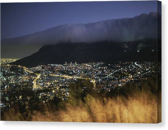 Republic Of South Africa Canvas Print - An Elevated View Of Cape Town And Table by Tino Soriano