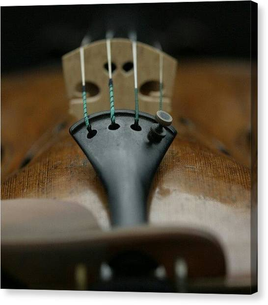Violins Canvas Print - An Expensive #strad Violin by Manan Din