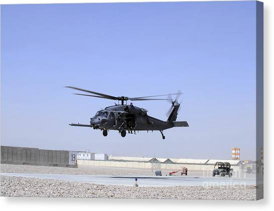 Medivac Canvas Print - An Hh-60g Pave Hawk Taking by Stocktrek Images