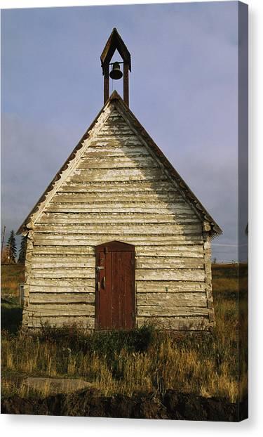 Northwest Territories Canvas Print - An Historic Anglican Church Built by Raymond Gehman