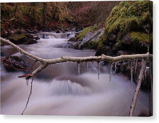 An Icy Flow Canvas Print
