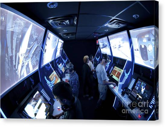 Air Traffic Control Canvas Print - An Interactive Display Room by Stocktrek Images
