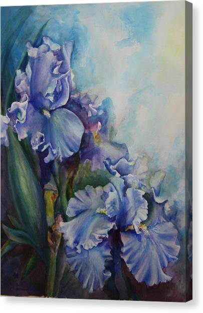 An Iris For My Love Canvas Print