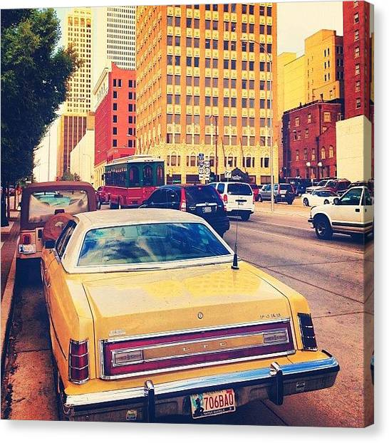 Oklahoma Canvas Print - An Ltd In Downtown Tulsa by Trey Rucker