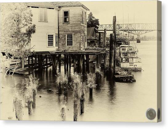 An Old Dock Canvas Print