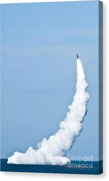 Warheads Canvas Print - An Unarmed Trident II D5 Missile by Stocktrek Images