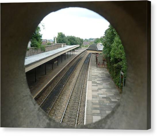 Trainspotting Canvas Print - An Unusual View - Great Malvern Railway Station by Ronald Osborne
