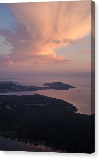 Vancouver Island Canvas Print - Anacortes Thunder by Mike Reid