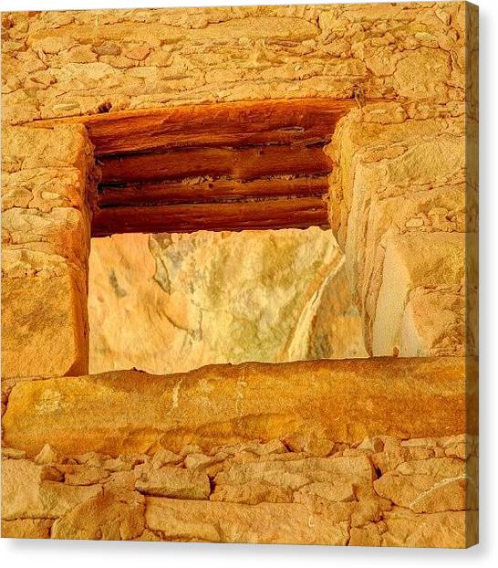 Indian Canvas Print - #anasazi #cliffdwelling #ancient by Gary Whitton